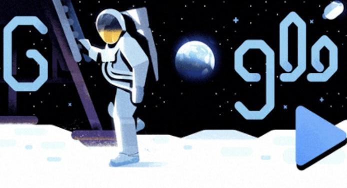 """""""جوجل"""" يحتفل بالذكرى الـ 50 لهبوط الإنسان على القمر"""