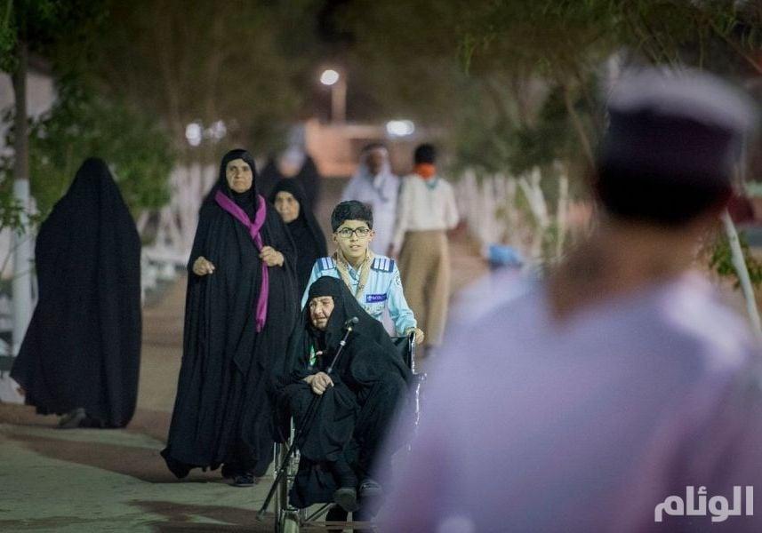 شاهد: مدينة الحجاج بأبو عجرم تواصل استقبال حجاج العراق