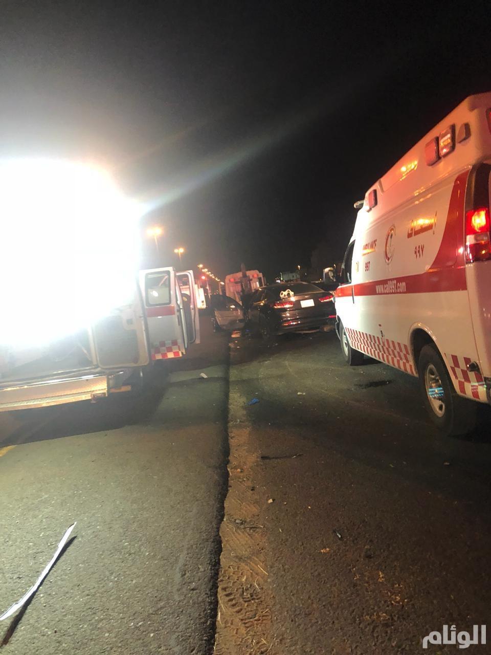 وفاة اثنين وإصابة أربعة آخرين في حادث تصادم بجدة الخمرة