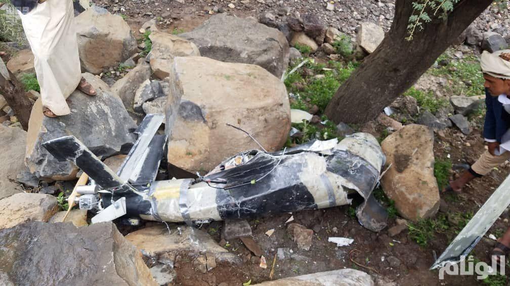 التحالف: ميليشيا الحوثي أطلقت طائرة مسيرة من صنعاء وسقطت على المدنيين في عمران