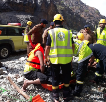 """""""مدني"""" الريث يعلن العثور على جثة المفقود الأخير في سيل وادي لجب"""