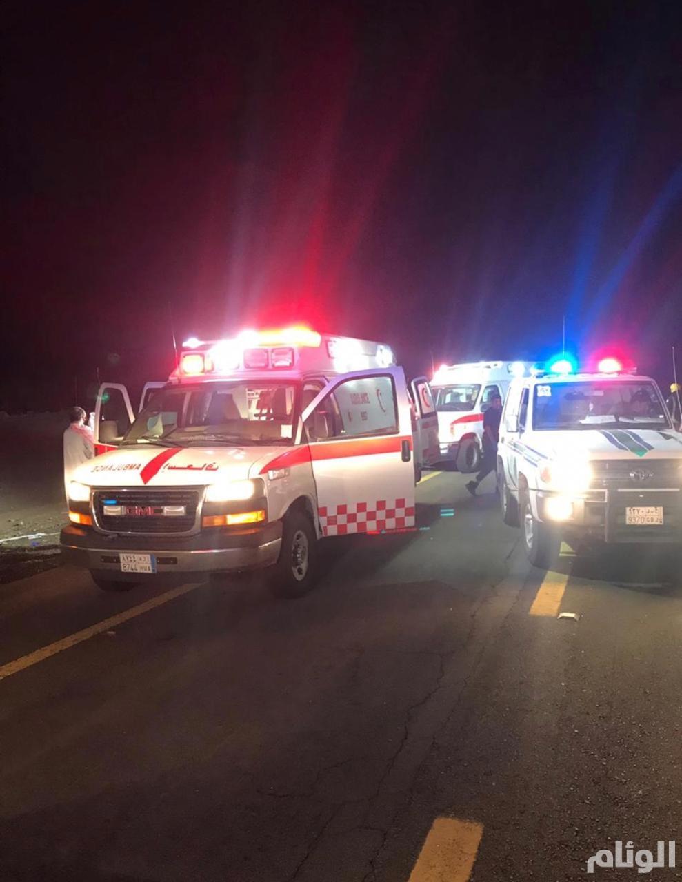 إصابة 13 شخصا في تصادم 7 سيارات بجدة