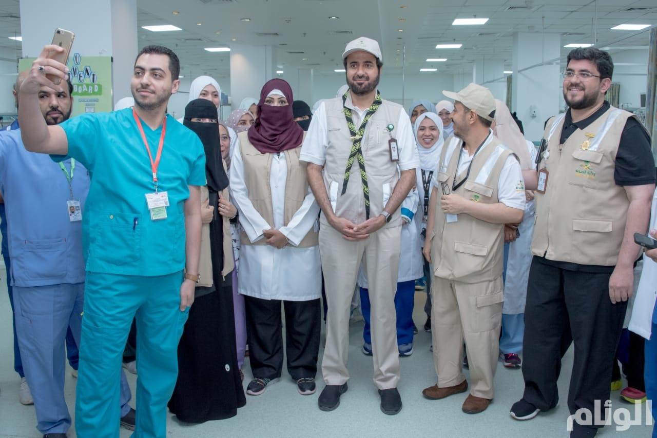 وزير الصحة يقف على جاهزية مستشفيات مشعر منى (صور)