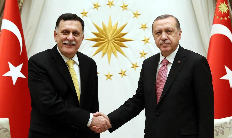 إردوغان وفايز السراج