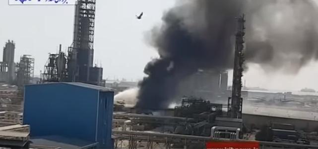 حريق في مجمع للبتروكيماويات بالأهواز جنوب إيران